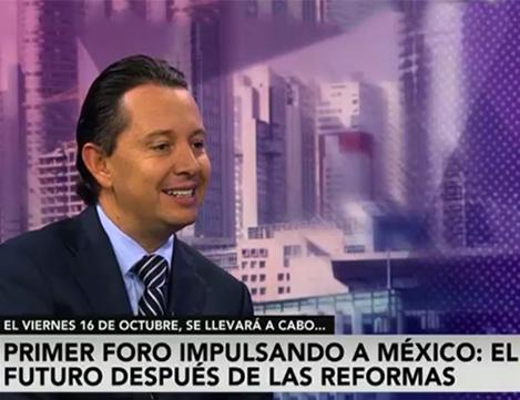 En entrevista CARLOS ROJO MACEDO Director General de Grupo Financiero Interacciones: FORO IMPULSANDO A MÉXICO SERVIRÁ PARA ANALIZAR REFORMAS ESTRUCTURALES.
